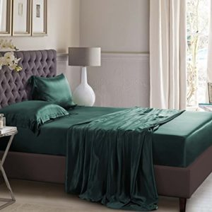 Hübsche Bettwäsche aus Seide - grün von ElleSilk