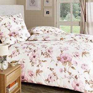 Hübsche Bettwäsche aus Seide - rosa 135x200 von Estella