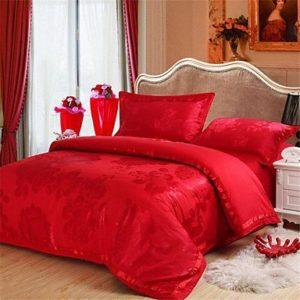 Schöne Bettwäsche aus Seide - rot von GAOJIEFANDIAN