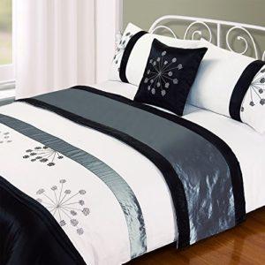 Traumhafte Bettwäsche aus Seide - schwarz von Just Contempo