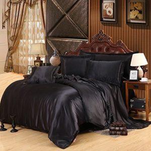 Kuschelige Bettwäsche aus Seide - schwarz von LOVE(TM)
