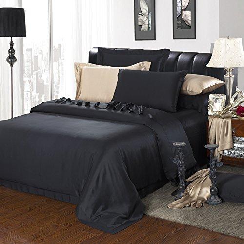 Kuschelige Bettwäsche aus Seide - schwarz von Paradise Silk