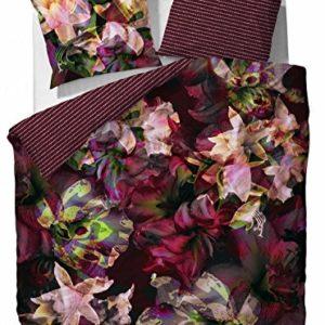 Schöne Bettwäsche aus Baumwolle - rot 155x220 von Essenza