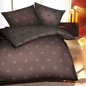 Schöne Bettwäsche aus Biber - braun 135x200 von Kaeppel