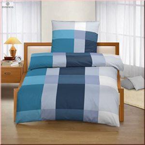 Kuschelige Bettwäsche aus Biber - petrol 135x200 von Ido