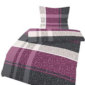 Schöne Bettwäsche aus Biber - schwarz 135x200 von Ido