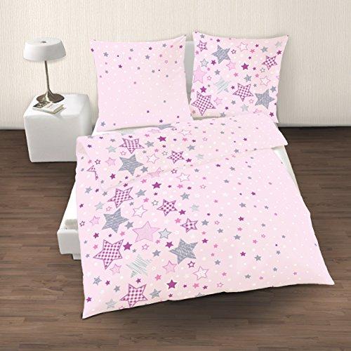 Biber Bettwäsche Sterne : traumhafte bettw sche aus biber sterne rosa 135x200 von ~ Watch28wear.com Haus und Dekorationen