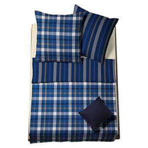 Kuschelige Bettwäsche aus Flanell - blau 135x200 von fleuresse