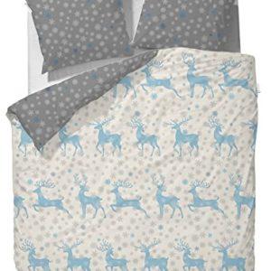 Hübsche Bettwäsche aus Flanell - grau 135x200 von Vanezza