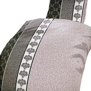 Schöne Bettwäsche aus Microfaser - grau 135x200 von Leonado Vicenti