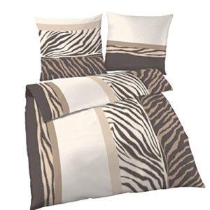 Hübsche Bettwäsche aus Renforcé - braun 135x200 von Ido