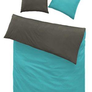 Traumhafte Bettwäsche aus Renforcé - grau 135x200 von optidream