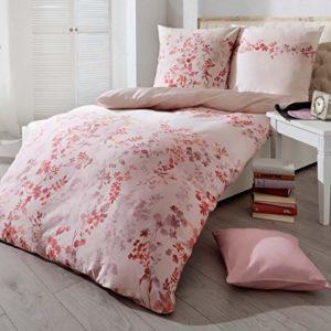 Kuschelige Bettwäsche aus Satin - rosa 155x220 von Kaeppel