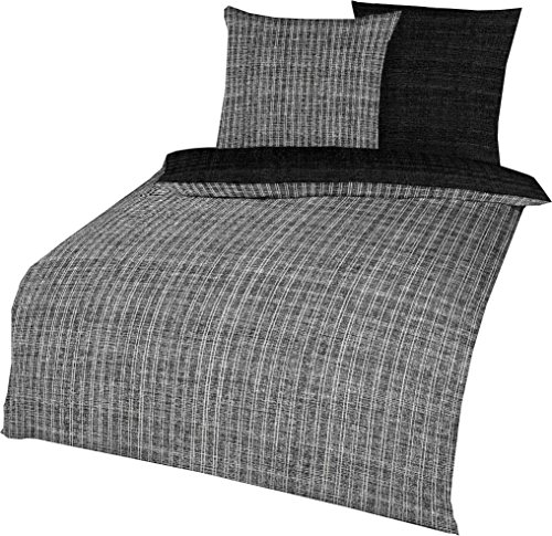 kuschelige bettw sche aus satin schwarz 135x200 von kaeppel bettw sche. Black Bedroom Furniture Sets. Home Design Ideas
