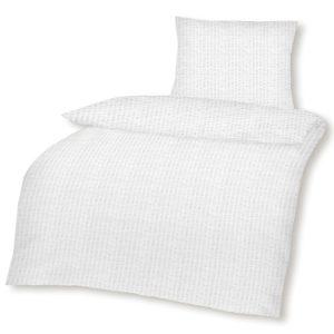 Hübsche Bettwäsche aus Seersucker - weiß 135x200 von optidream