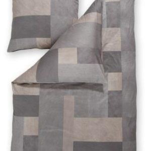 Schöne Bettwäsche aus Jersey - grau 135x200 von Estella
