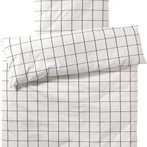 Traumhafte Bettwäsche aus Perkal - schwarz 135x200 von elegante