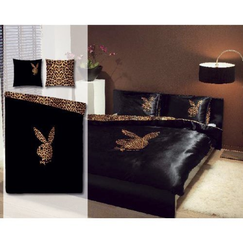 kuschelige bettw sche aus polyester schwarz 135x200 von playboy bettw sche. Black Bedroom Furniture Sets. Home Design Ideas