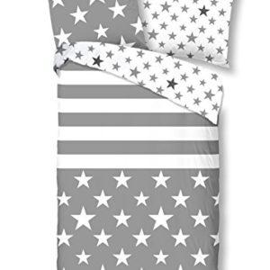 Kuschelige Bettwäsche aus Renforcé - blau 135x200 von Good Morning!