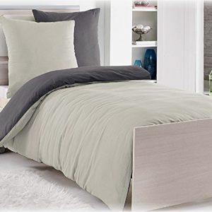 Hübsche Bettwäsche aus Renforcé - grau 135x200 von daspasstgut