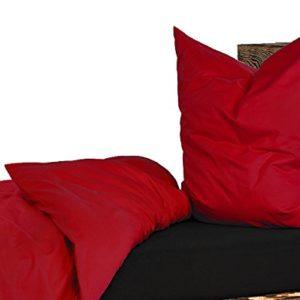 Schöne Bettwäsche aus Renforcé - rot 135x200 von daspasstgut