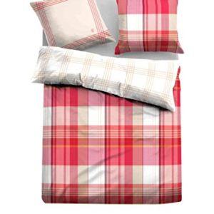 Schöne Bettwäsche aus Satin - rot 135x200 von TOM TAILOR