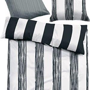 Traumhafte Bettwäsche aus Satin - schwarz 135x200 von TOM TAILOR