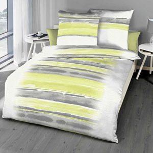 Hübsche Bettwäsche aus Seersucker - grün 135x200 von Kaeppel
