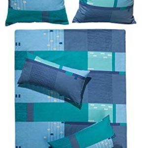 Kuschelige Bettwäsche aus Biber - blau 155x200 von Erwin Müller