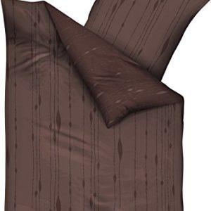 Hübsche Bettwäsche aus Biber - braun 155x220 von Kaeppel