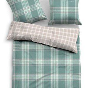 Hübsche Bettwäsche aus Flanell - grün 135x200 von TOM TAILOR