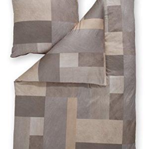 Schöne Bettwäsche aus Jersey - braun 135x200 von Estella