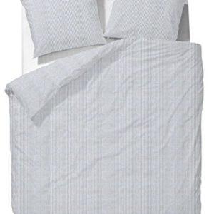 Kuschelige Bettwäsche aus Perkal - grau 135x200 von MarcOPolo