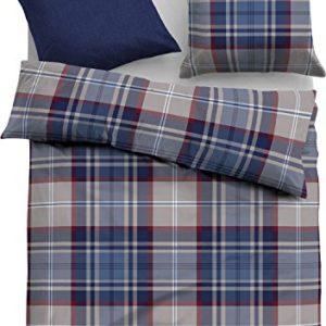 Hübsche Bettwäsche aus Satin - blau 135x200 von Tom Tailor