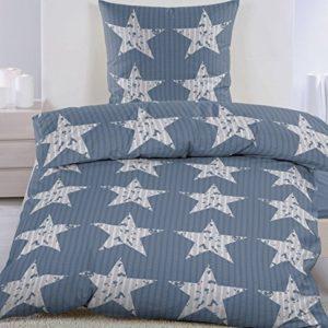Hübsche Bettwäsche aus Seersucker - grau 135x200 von KH-Haushaltshandel