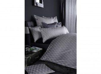 Traumhafte Bettwäsche aus Damast - grau 135x200 von Curt Bauer