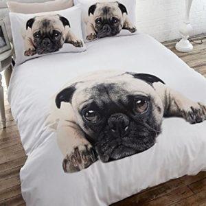 Traumhafte Bettwäsche aus Flanell - weiß 135x200 von Homespace Direct