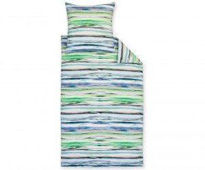 Schöne Bettwäsche aus Jersey - grün 135x200 von Estella