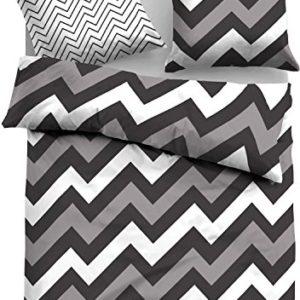Hübsche Bettwäsche aus Linon - grau 155x220 von TOM TAILOR