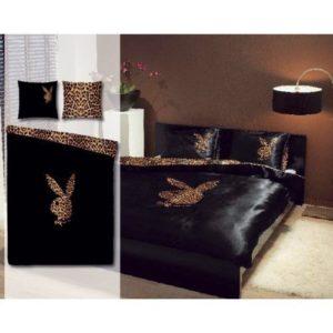 Kuschelige Bettwäsche aus Polyester - schwarz 135x200 von Playboy