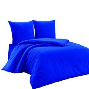 Traumhafte Bettwäsche aus Renforcé - blau 200x220 von Elit Home Collection