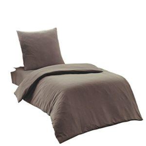 Hübsche Bettwäsche aus Renforcé - braun 135x200 von Elit Home Collection