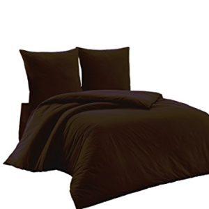 Hübsche Bettwäsche aus Renforcé - braun 200x200 von Elit Home Collection