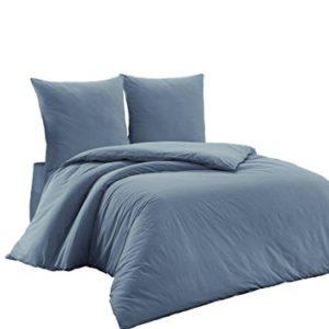 Kuschelige Bettwäsche aus Renforcé - grau 200x200 von Elit Home Collection