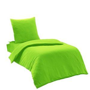 Hübsche Bettwäsche aus Renforcé - grün 135x200 von Elit Home Collection