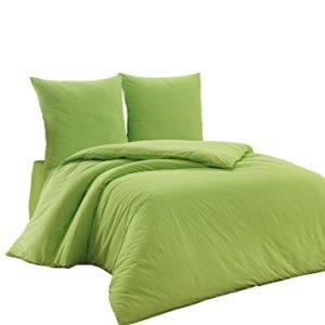 Traumhafte Bettwäsche aus Renforcé - grün 200x220 von Elit Home Collection