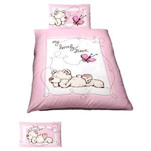 Traumhafte Bettwäsche aus Renforcé - rosa 100x135 von Ido
