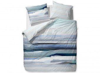 Hübsche Bettwäsche aus Satin - blau 135x200 von Essenza