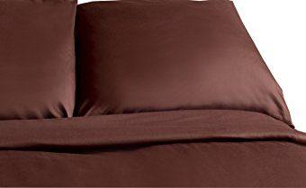 Schöne Bettwäsche aus Satin - braun 200x200 von Carpe Sonno