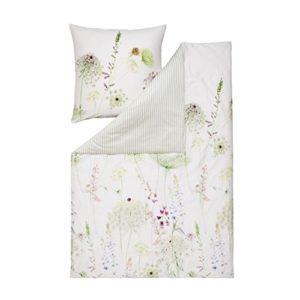 Hübsche Bettwäsche aus Satin - grün 220x240 von Estella